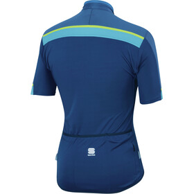 Sportful Pista Lyhythihainen Jersey Miehet, blue twilight/electric blue/yellow